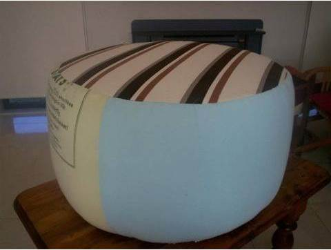 DIY Simple Ottoman from Recycled Plastic Bottles 5