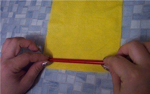 DIY Easy салфеток бумажные розы 1