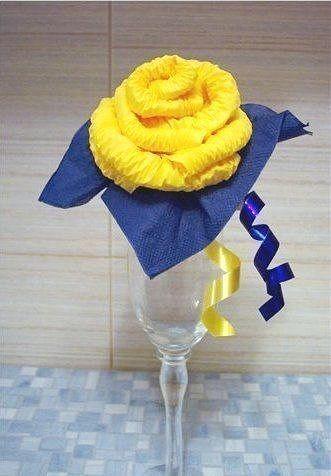 DIY Easy салфеток бумажные розы 9