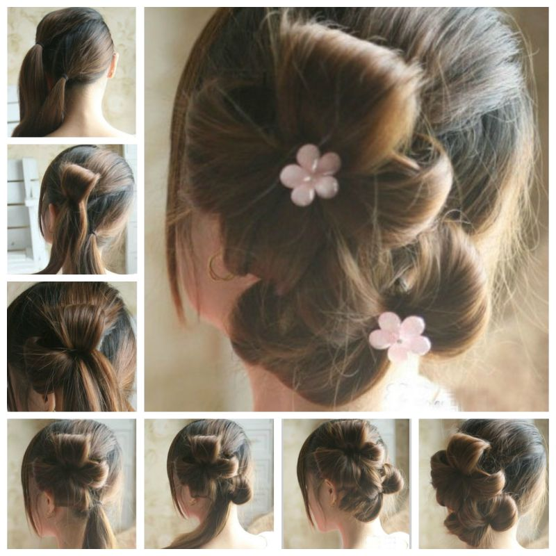 how to make new hair style at home diy chic flower petal updo hairstyle home diy 6302 | DIY Chic Flower Petal Updo Hairstyle